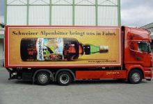 LKW-Beschriftung Appenzeller Alpenbitter