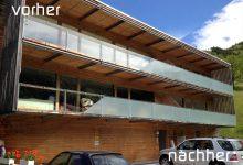 Sichtschutz an Balkonverglasung