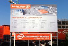 Baustellentafel – Gebrüder Weiss Lauterach