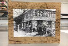 Direktdruck auf Holzplatte