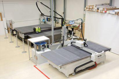 Grossformat Multicutanlagen mit Arbeitsflächen von 320x320cm bzw. 160x320cm
