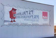 Fassadentransparent Flatz Verpackungen 12 x 3,5m