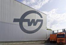 Fassadenlogo Gebrüder Weiss 15x10m