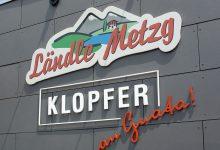 Fassadenbeschriftung Metzgerei Klopfer