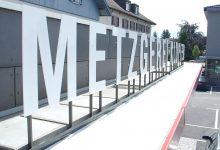Fassadenbuchstaben Metzgerei Klopfer