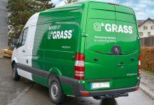 Teilfolierung und Beschriftung Grass Roadshow Fahrzeug